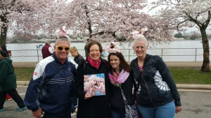 This wonderful family came from Dallas to DC for the day just to see the blossoms at their peak.  Note their fab headgear!