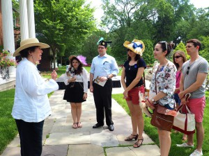 The visitors' French hats were made by them as a special French Festival activity enjoyed by all ages on July 11, 2015.